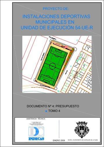 Mediciones y Presupuesto - Ayuntamiento de Castellón