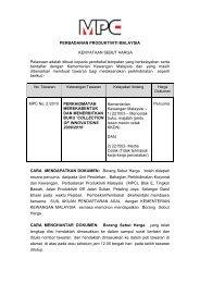 PERBADANAN PRODUKTIVITI MALAYSIA KENYATAAN ... - MPC
