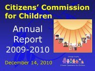 Discussion Citizen's Commission for Children Annual Report 2009 ...