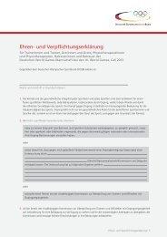 Ehren- und Verpflichtungserklärung - Der Deutsche Olympische ...