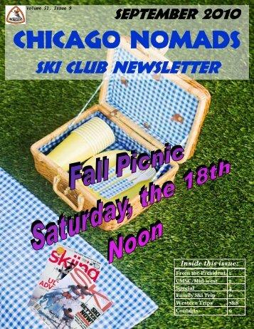 September Newsletter - Chicago Nomads Ski Club