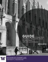 2012-2013 DIVISION OF STUDENT LIFE - University of Washington