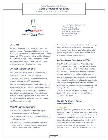 Membership Brochure.indd - ACF Windy City Professional Culinarians