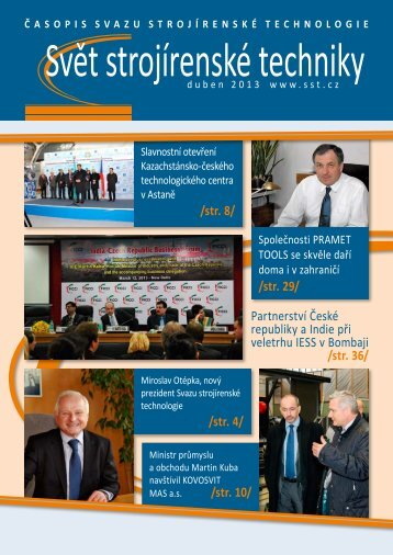 Svět strojírenské techniky číslo 1/2013 (PDF, 8.31 MB) - Svaz ...