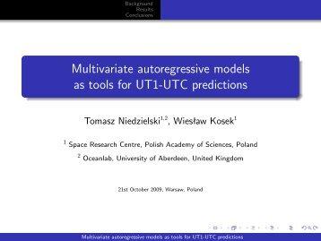 Multivariate autoregressive models as tools for UT1-UTC predictions