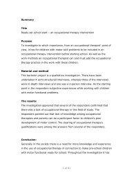 [pdf] 1 af 81 Summary Title Ready - Ergoterapeutforeningen