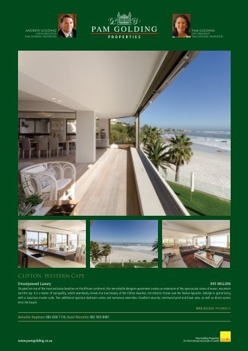 CLIFTON, WESTERN CAPE - Pam Golding Properties