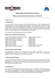 Regelement 2013 / 2014 - 28. Möbel Löffler Mini - Schanzen - Tournee