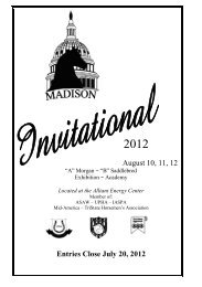 August 10, 11, 12 Entries Close July 20, 2012