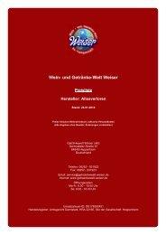 Preisliste für Hersteller: Allesverloren - und Getränke-Welt Weiser