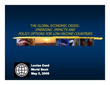 emerging impacts and policy options for low-income countries