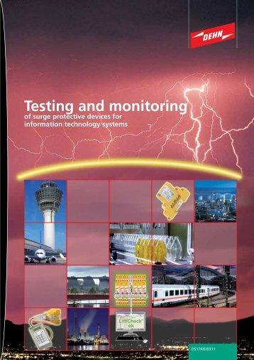 Testing and monitoring - Dehn + Söhne Blitzschutzsysteme