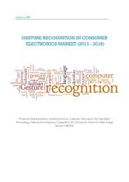 Gesture Recognition in Consumer Electronics Market (2013 - 2018)
