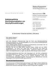 Einverständniserklärung Ablation - CCB