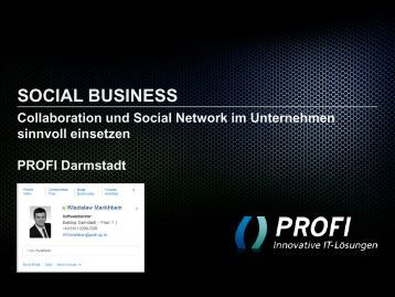 social business - PROFI Engineering Systems AG