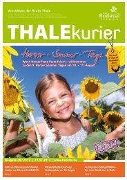 THALEKuriEr 08 / 2013 - Bodetal