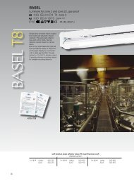 Luminaire for zone 2 and zone 22, gas-proof II 3G EEx ... - Safeexit A/S