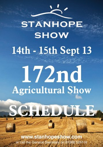 download the 2013 schedule - Stanhope Show