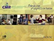 Calendrier CMR 2005 - Santé Montérégie