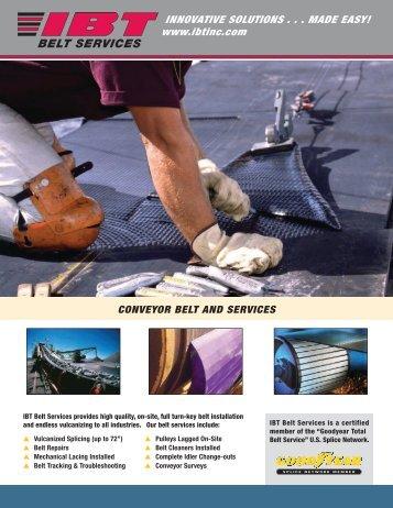 Belt Services Flyer - IBT, Inc.