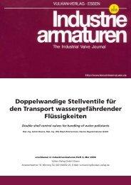 Doppelwandige Stellventile für den Transport wassergefährdender ...