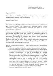 Raport bieżacy nr 74/2013 - FAM Grupa Kapitałowa S.A.