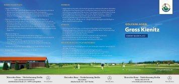 Scorekarte - Golfclub Gross Kienitz