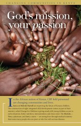 God's mission, your passion - Cooperative Baptist Fellowship