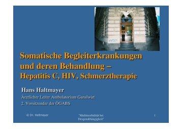 Somatische Begleiterkrankungen und deren Behandlung ... - ögabs