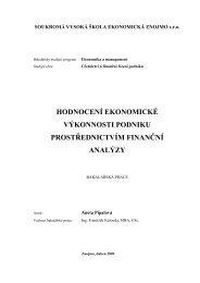 Hodnocení ekonomické výkonnosti podniku prostřednictvím finanční ...