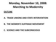 Monday, November 10, 2008: Marching to Modernity