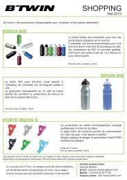 shopping mai 2012 - Espace Presse - BTwin