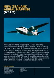 NEW ZEALAND AERIAL MAPPING (NZAM)