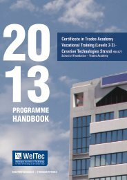 HANDBOOK - Wellington Institute of Technology