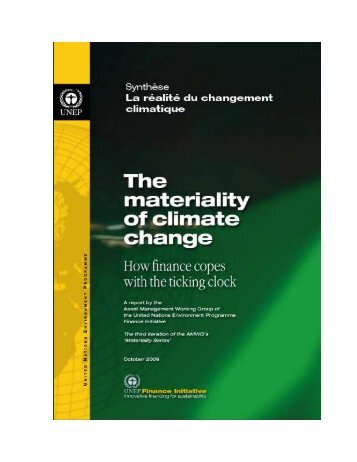 TEMPLATE- The materiality of climate change_fr - UNEP Finance ...