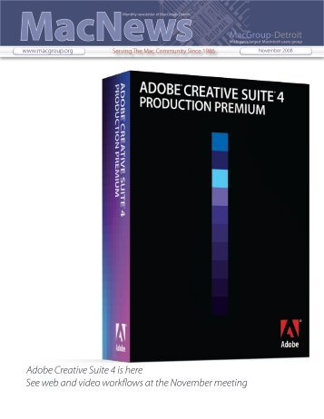 Adobe Creative Suite 4 is here See web and ... - MacGroup-Detroit