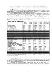 Transporto ir ryšių 2012 m. sausio–birželio mėn. ekonominės ir ...