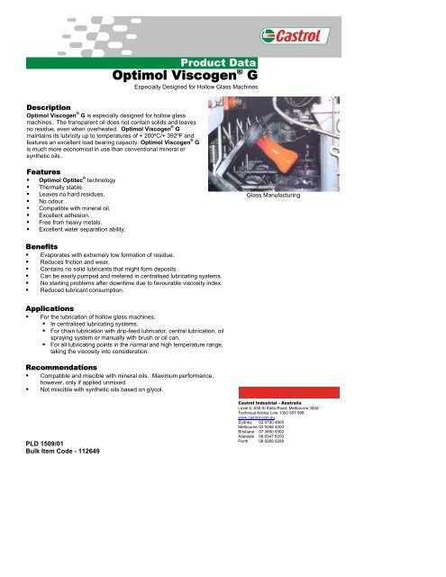 Optimol Viscogena G Castrol Tds