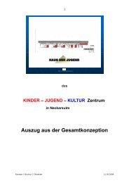 das KINDER – JUGEND - Kommunale Jugendarbeit Neckarsulm