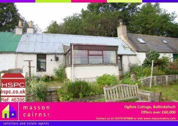 Ogilvie Cottage, Ballindalloch Offers over £60,000 - HSPC