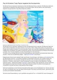 Pop Art Künstlerin Tanja Playner begeistert die Kunstsammler.