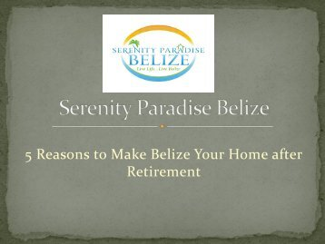 Retiring in Belize