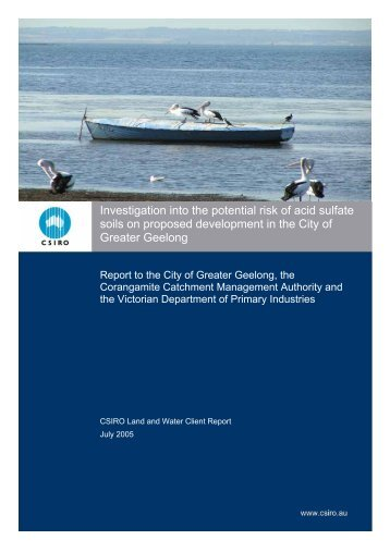 Investigation into the potential risk of acid sulfate soils on proposed ...