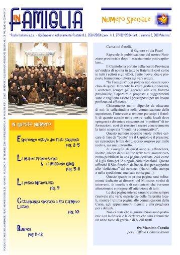 Numero Speciale - Frati Minori di Sicilia