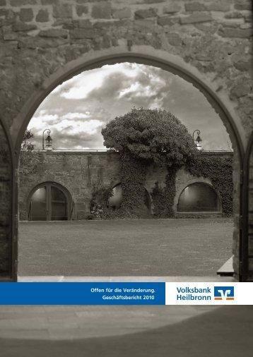 Offen für die Veränderung. Geschäftsbericht 2010 - Volksbank ...