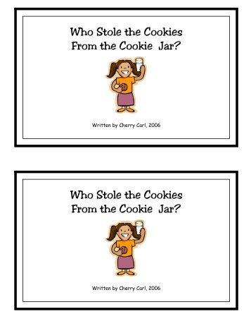 "Who Stole The Cookie From The Cookie Jar Book Adorable Who Stole The Cookies From The Cookie Jar ""I Didn't Little"