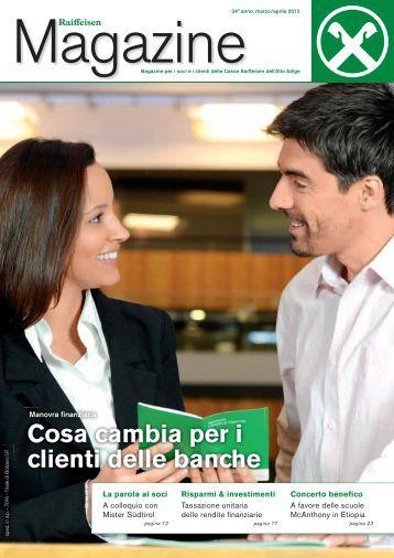 Cosa cambia per i clienti delle banche - Raiffeisen