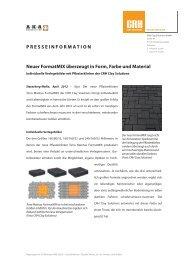 Neuer FormatMIX überzeugt in Form, Farbe und Material ...