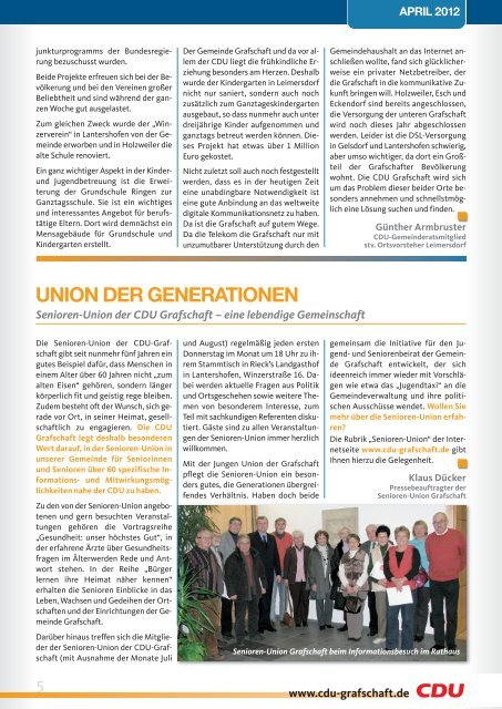 KOMMUNAL - CDU Ortsverband Grafschaft