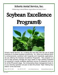 Soybean Excellence Program® - Schertz Aerial Service, Inc.